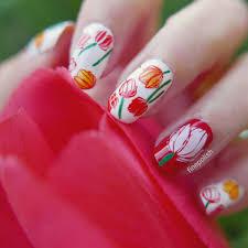 springtime tulip manicure fine polish