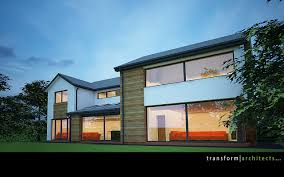House Makeovers White Render And Cedar Boarding House Makeover Contemporary