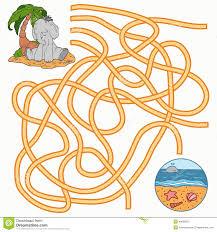 maze game for children elephant stock vector image 48089315