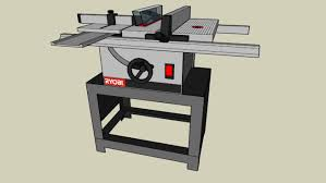 table saw router combo ryobi bt3000 combination tablesaw router table 3d warehouse