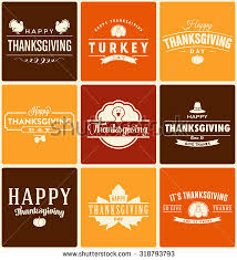 thanksgiving symbol typographic vector design stock vector