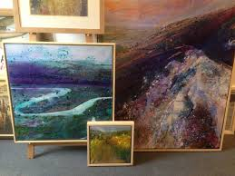 oil paintings with tray frames