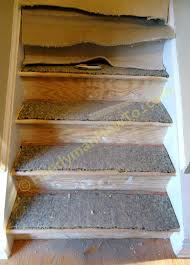pictures of wood stairs carpet to wood stairs remodel saw off old stair nosing