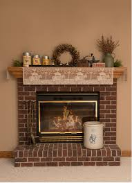 farm mantel scarf brings a touch of country charm