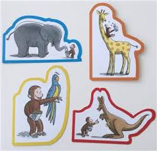 curious george 4 notecards greeting 3 xmas cards elephant