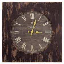 yosemite home decor 19 in square mdf wall clock in distressed