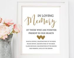 wedding memorial sign printed chalkboard wedding memorial sign in loving memory