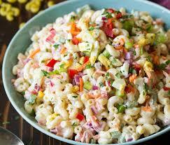 recette cuisine été une recette de salade de macaroni plein de couleur pour l été c