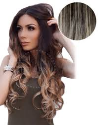ombre extensions balayage 220g 22 ombre mochachino brown hair