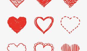 free vector heart sketch allfreevector