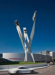 stuttgart porsche factory gerry judah completes a new sculpture for the porsche museum in