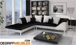 canapé simili cuir noir sultan canapé d angle similicuir noir blanc degriffmeubles com