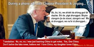 X I Meme - trump speaking with chinese president xi jinping share a meme