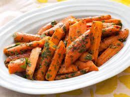 pan roasted carrots with mint and parsley gremolata recipe food