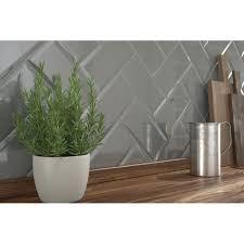 Dark Grey Tile Brick Gloss Dark Grey 10cm X 20cm Wall Tile
