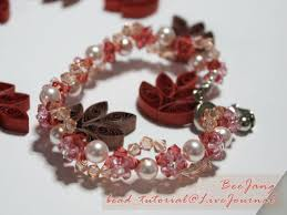 red crystal bracelet images Tutorial crystal bracelet 8 bead tutorial