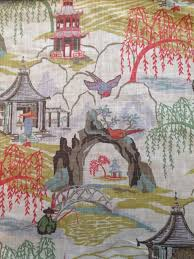Painting Fabric Curtains Best 25 Asian Upholstery Fabric Ideas On Pinterest Chinoiserie