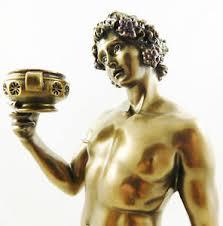 dionysus greek god statue greek god of wine dionysus or bacchus statue mythology figurine