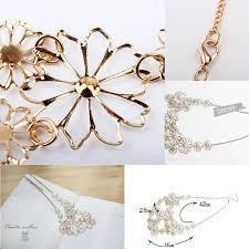 color flower necklace images Hot sale brand design western style multilayer pendants rhinestone jpg