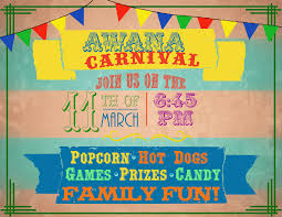 Awana Ministry Conferences Awana Awana Flyer Carnival Family Event Church Popcorn Dogs