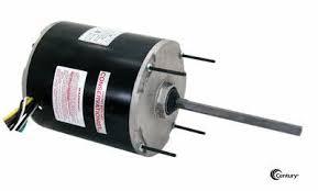 48y frame fan motor century f1106 condenser fan motor 1hp 1075rpm 208 230v 1ph 48y