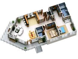 house design with floor plan 3d strikingly design 5 modern house plans in 3d plan 3d pics photos 3d