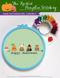 Candy Corn Costume Candy Corn Costume Party Collection 2 Pdf Cross Stitch Pattern