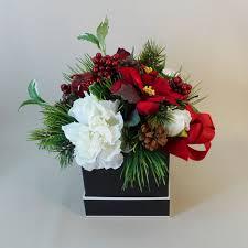 christmas flower arrangements christmas flowers a christmas carol artificial flowers arrangement