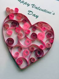 quilling paper craft lends elegance to valentine u0027s cards