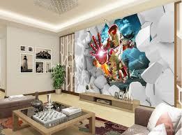 custom any size 3d stereo iron man tv background wall mural 3d custom any size 3d stereo iron man tv background wall mural 3d wallpaper 3d wall papers