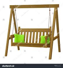 Swing Bench Outdoor by Classic Outdoor Garden Wooden Hanging On Stock Vector 516165541