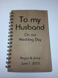 wedding gift to husband to my husband on our wedding day journal notebook