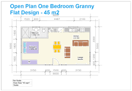 floor plans for flats open plan one bedroom granny flat design adus granny flats