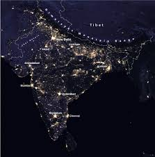 World At Night Map Map Of India Nations Online Project