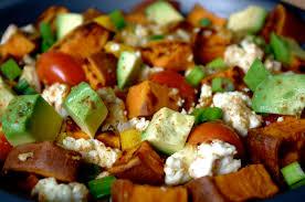 dinner egg recipes sweet potato avocado egg scramble and fave five friday