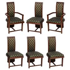 set of 12 frank lloyd wright taliesin mahogany dining chairs by
