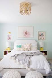 Pale Blue And White Bedrooms by Bedroom Design Light Blue Girls Room Girls White Bed Orange