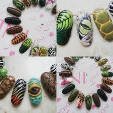 lena kurach indigo educator amazing jungle nails design