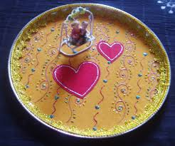 and groom plates and groom decorated plate aarathi decorative plates