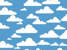 onlinelabels clip art simple clouds
