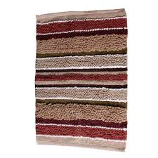 Cotton Bathroom Rugs Saturday Stripe 20 In X 30 In Cotton Bath Rug In