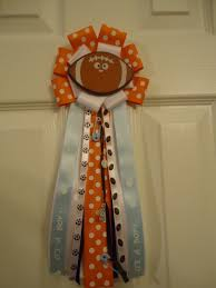 sports football theme baby shower corsage mini mum small or