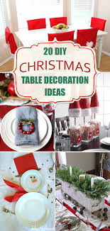 simple christmas table decorations 20 amazing diy christmas table decoration ideas