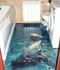 bathroom floor ideas these 3d bathroom floors will you dizzy with envy flooring