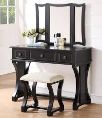 White Vanity Table With Drawers Poundex F4119 Dulce White Wood Vanity Desk With Mirror U0026 Bench
