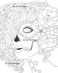 instant digital download coloring page sugar skull original