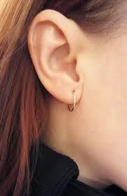 sleepers earrings image 12mm 4 8 solid 10k gold sleepers hoops piercing baby