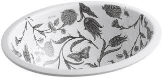 kohler botanical study oval undermount bathroom sink u0026 reviews