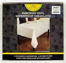 tablecloth for 54x54 table vinyl white 54 x 54 inch embossed lace tablecloth table cover
