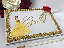 sweet 16 guest book beauty and the beast signature guest book party